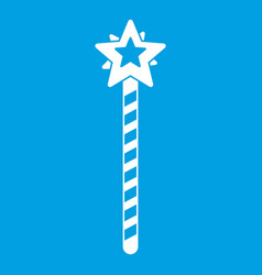 Magic wand icon white vector