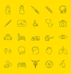 Medical thin line icons vector