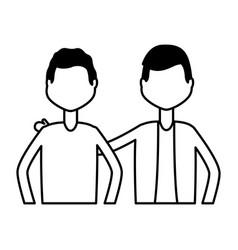 men characters portrait vector image