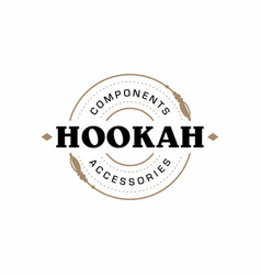 Modern professional logo hookah in gold and white vector