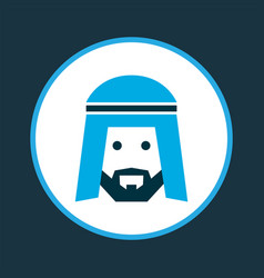 Muslim icon colored symbol premium quality vector