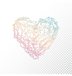 Ombre print heart vector