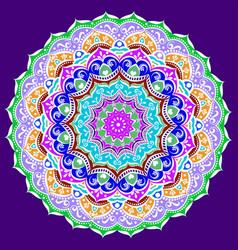 ornament of a circular mandala color vector image