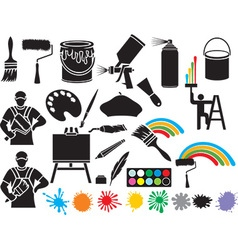Painting Accessories Icon vector