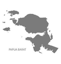 papua barat indonesia map grey vector image