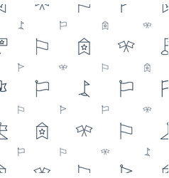 pennant icons pattern seamless white background vector image
