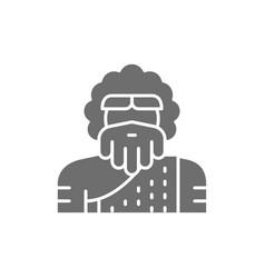 Primitive man homo sapiens neanderthal vector