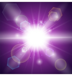 Purple light background vector image