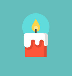 red christmas candle flat icon vector image