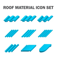 Roof tile icon blue vector