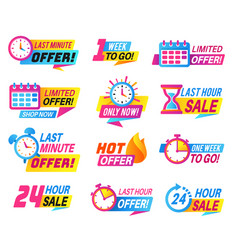 sale countdown badges big deal limited sale vector image