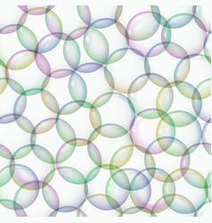 seamless pattern with soap bubbles vector image