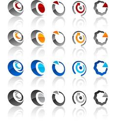 Set of modern emblems vector