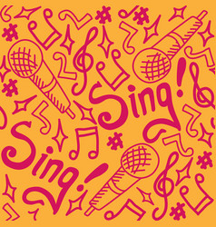 sing seamless pattern bright vector image