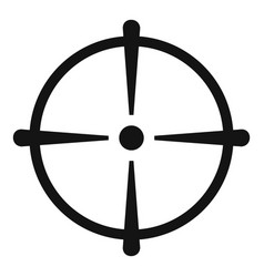 Sniper scope icon simple style vector