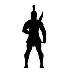 sparta silhouette 0001 vector image