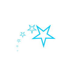 star logo design inspiration isolated on white vector image