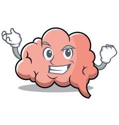 successful brain character cartoon mascot vector image