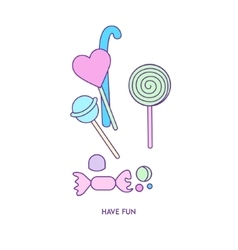 Sweets icon character 01 vector image
