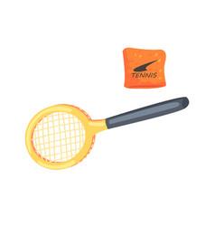 Tennis racket sport equipment cartoon vector