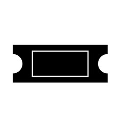 ticket black color icon vector image
