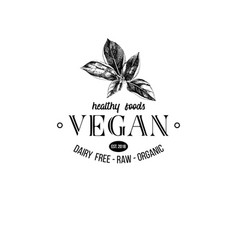 vegan logo design vector image