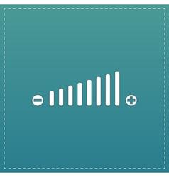 Volume adjustment symbol web icon vector