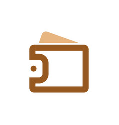 wallet icon graphic design template vector image