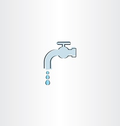 Water drop tap icon vector
