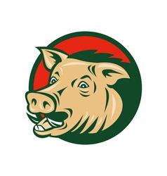 wild boar or razorback vector image