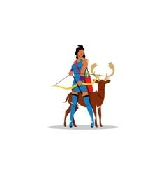 Artemis sign Mythological Greek Goddess of vector image vector image