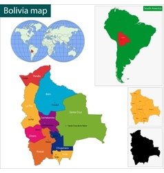 Bolivia map vector image vector image
