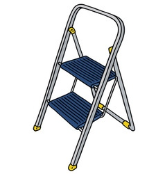 Metal small stepladder vector image vector image