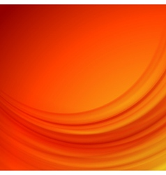 Orange smooth lines background vector image vector image