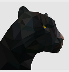 panther in low poly vector image
