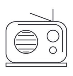 radio reciever line icon sign vector image