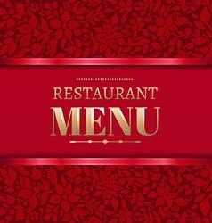 Red Restaurant Menu vector image