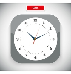 Time and Clock App Icon vector image vector image