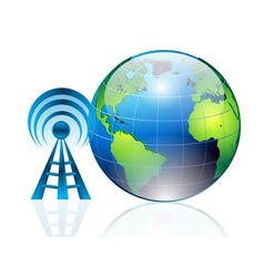 world and signals vector image vector image
