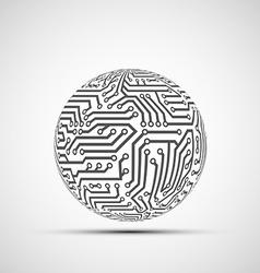 Abstract Technology logo vector image vector image