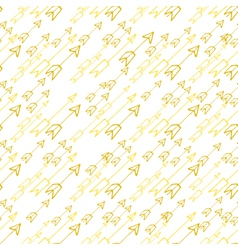 Hand-drawn yellow arrows on white background vector image