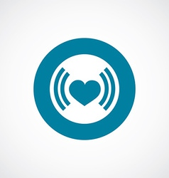 heart beat icon bold blue circle border vector image vector image