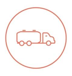 Truck liquid cargo line icon vector image