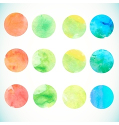 Watercolor circle design elements vector