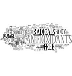 antioxidant fruits text word cloud concept vector image vector image
