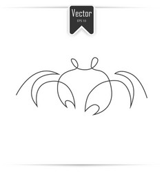 crab one line vector image