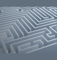 Intricacy labyrinth isometric maze background 3d vector