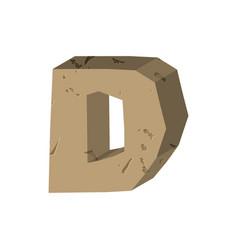 letter d stone font rock alphabet symbol stones vector image