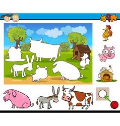 matching task for preschoolers vector image