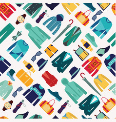 seamless pattern fashionable mens wear background vector image